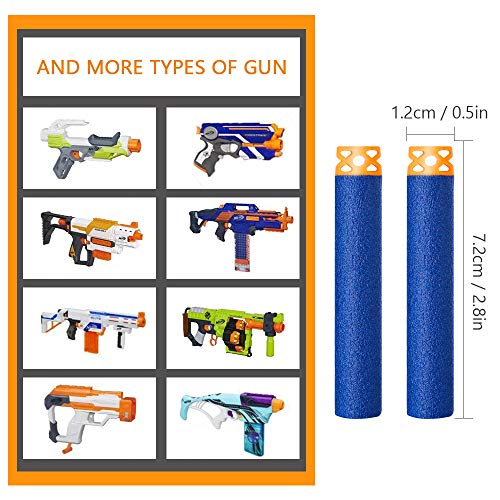 Forliver Refill Darts, 100 Pack Refill Bullets Compatible with Nerf Guns for Nerf N-Strike Elite Series Blasters Toy Guns. Kids Christmas Role Play Nerf Battle Game Gift