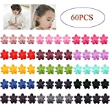 inSowni Mini Hair Claw Clips Flower Rabbit Ear Rhinestone Barrettes for Baby Girl Toddler Infant Kids (60PCS S3)