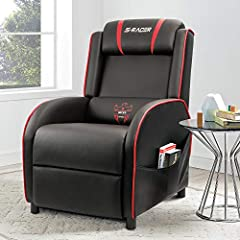 Everything is designed for maximum comfort. Homall Gaming recliners feature a backrest that can be tilted back, and a footrest that can be  extended by means of a lever on the side of the chair.Everything is designed for maximum comfort. Feat...