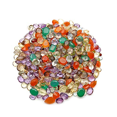 1000+ Carats Loose Mixed Gems Wholesale Lot. Natural Faceted Semi Precious Gemstones. Gemmartusa loose Gemstone (MX-60001