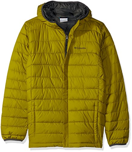 (Columbia Boy's Big Powder Lite Puffer Water-Resistant Insulated Jacket, Python Green,)
