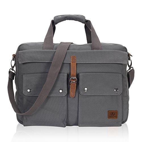 Hynes Eagle Veegul Multifunctional Canvas Laptop Bag 15.6 inch Grey