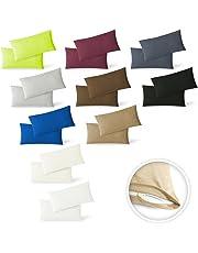 EXKLUSIV HEIMTEXTIL Jersey Kissenbezug Hülle 2 Sparpack Set mit Reißverschluss hochwertige Qualität