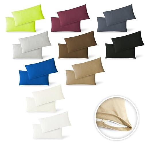 15 opinioni per Set di federe per cuscino, confezione da 2 pezzi, con chiusura lampo, di alta