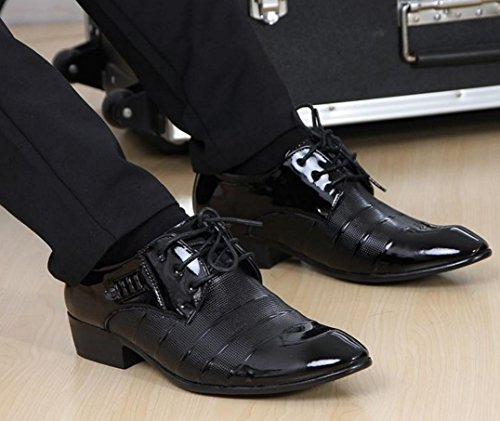 black Tatuaggio Pizzo 3006 Oxford Scarpe Abito Scarpe Cuoio in Scarpe 38 NSPX Uomo Pochette 3006BLACK Da Abbigliamento 38 Sposa Banchetto YpaxAqp0wT