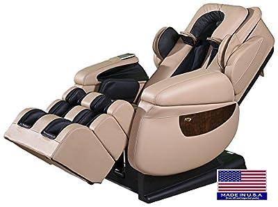 Luraco i7 iRobotics 7th Generation 3D Zero Gravity Heating Massage Chair Cream
