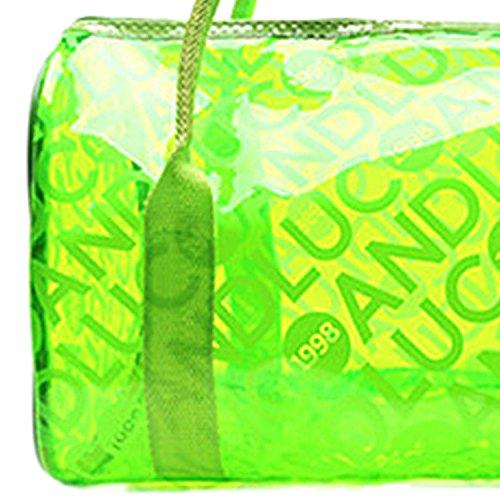 Bolso Fitness Transparente Mano de para Playa Natación Panegy con Moda Asas Deportes Impermeable Azul Bolsa de Verde xnqg86Y