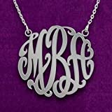 Best Personalized Necklaces Friends Sterling Silver Necklaces - Personalized Monogram Necklace in Sterling Silver - Monogram Review