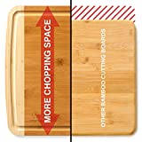 """Bamboo Cutting Board Extra Large - EXTRA WIDE & THICK 