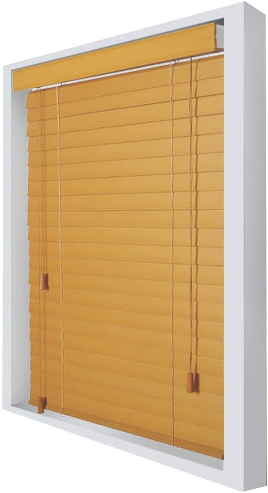 ACZZ Persianas de oscurecimiento a prueba de agua para puertas de granero de ventana, persianas horizontales interiores de madera, 60Cm / 80Cm / 100Cm / 120Cm / 140Cm de ancho,60 × 60cm: