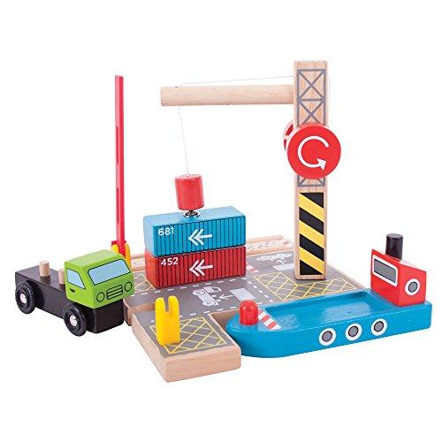 er Shipping Yard for Train Set (Bigjigs Toys)