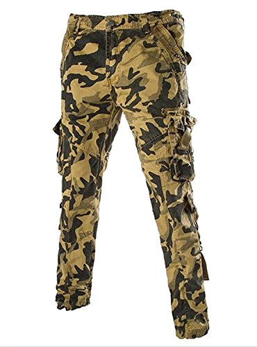 [dotticool Mens 4 Color Comfortable Camouflage Pocket Trousers Sport Pants AS16China 3XL/US XL Cool] (Morph Suite)