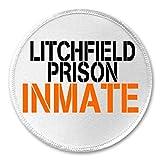 Litchfield Prison Inmate - 3' Sew / Iron On Patch Orange Black