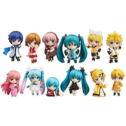 EXTOY 12Pcs/Lot Vocaloid Family Figures Rin Len Ruka Kaito Meiko Anime Figure Toys New New Must Haves Gift Box The Favourite Toys Toddler Superhero UNbox Box