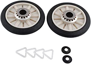 349241T (2-Pack) Rear Drum Support Roller Kit for Whirlpool Dryers by PartsBroz - Replaces AP3098345, 3389901, 3397588, 3397590, 340352, 349241, 349241TVP, 661562, AH347627, EA347627, PS347627