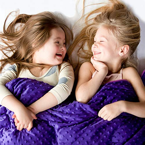 Harkla Kids Weighted Blanket (7lbs) - Great for Sensory Seekers - Weighted Blanket for Children...