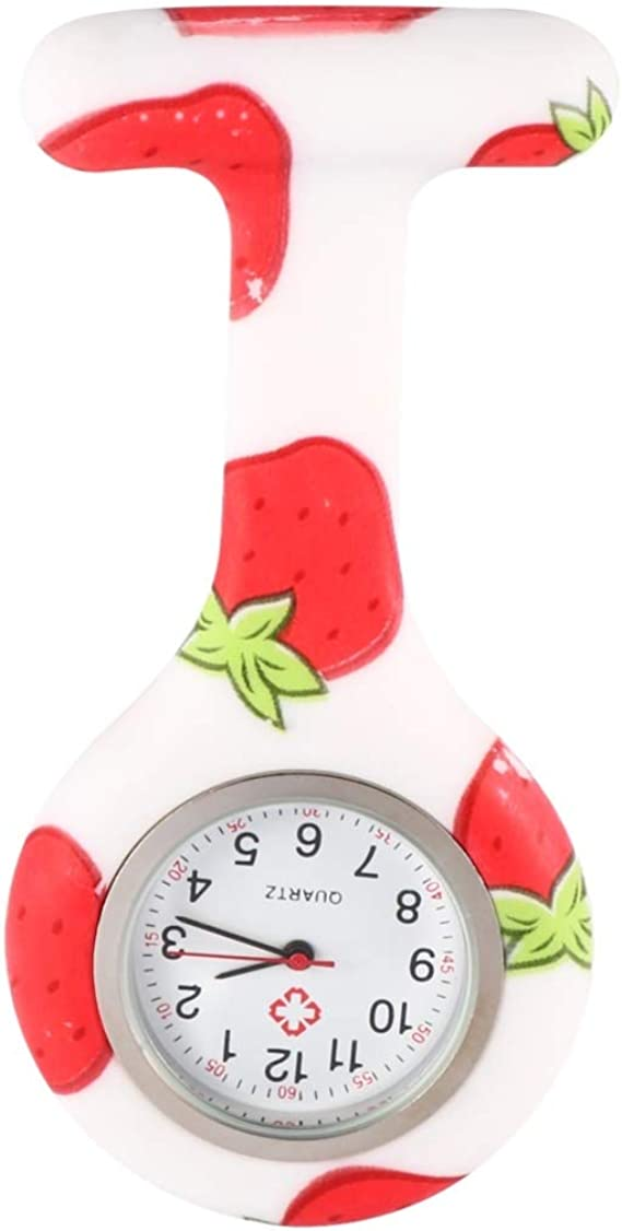 NICERIO Reloj Fob de Silicona Reloj de Enfermera con Broche ...