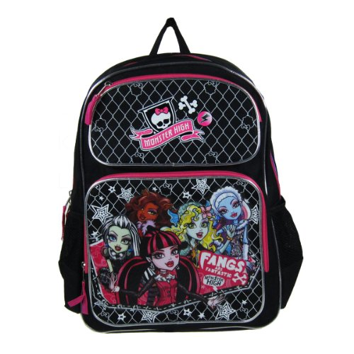 Officially Licensed Monster High Backpack - Two zipper pockets for more -