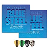 Dean Markley 2034 Blue Steel LT Acoustic Guitar Strings 2-Pack (0.11-.052) Includes Guitar Picks