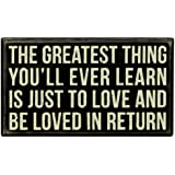 Primitives by Kathy Box Sign, The Greatest Thing, 7-Inch by 4-Inch
