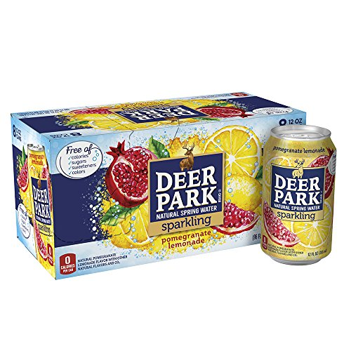 Deer Park Sparkling Water, Pomegranate Lemonade, 12 oz. Cans (Pack of 8) -