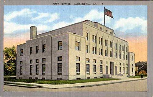 - Post Office Alexandria, Louisiana Original Vintage Postcard