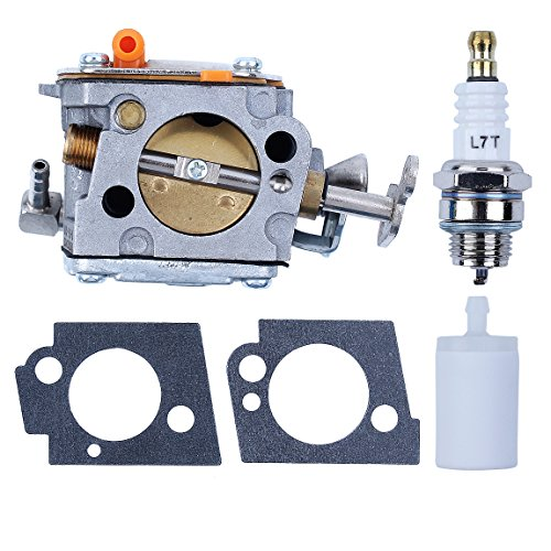 Haishine Carburetor Fuel Filter Spark Plug Kit for Partner Husqvarna K650 K700 K800 K1200 Concrete Saw #503280418 Carb (Partner Saw Parts)