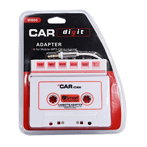 houmi Car Cassette to Aux Adapter 3.5 mm Car Audio Cassette Adapter for Phones, MP3, MP4, iPod, iPad, DVD Player, (Ipod Dvd Mp4 Converter)