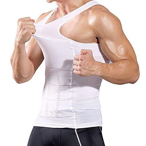 d4e0fd8c06 AceList Men s Tank Top Compression Workout Shirt Trainer Vest Athletic  Sport Tank top Sleeveless White Men