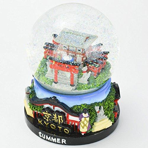 Musubi - Snow Globe Glitter SK0027 (Kyoto Summer), 3.5'' Tall by musubi Kyoto (Image #3)