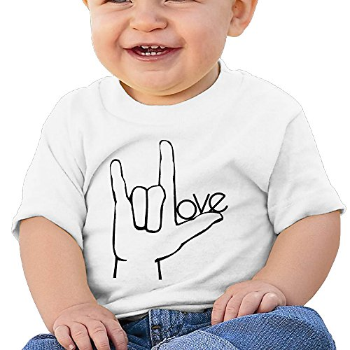 Asl Sign Love - ILY I Love You ASL Handshape Sign Language Newborn Infant Cute T-Shirts