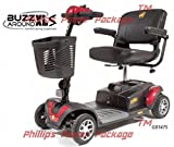 Golden Technologies - Buzzaround XLS - Compact Travel Scooter - 4-wheel - Red - PHILLIPS POWER PACKAGE TM - TO $500 VALUE