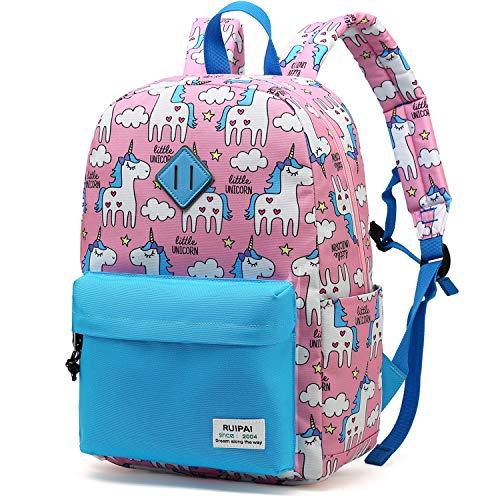 Preschool Backpack for Kids Girls Toddler Backpack Kindergarten School Bookbags (Pink/Blue) (Best Backpack For Kindergarten Girl)