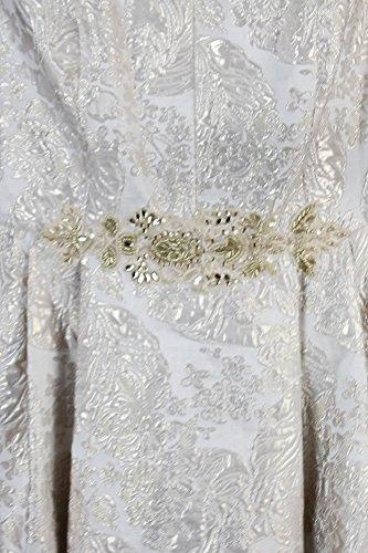 W amp; Low Jacquard Metallic Plus Adam Ivory Gown Size Betsy Sleeveless High RxdqawAPq