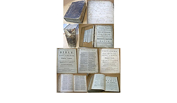 The Holy Bible Containing The Old And New Testaments Newly Translated Out Of The Original Tongues Etc Thomas Baskett 1755 Amazon Com Books