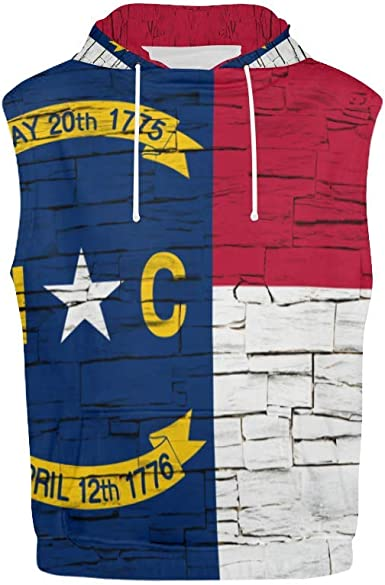 Lumos3DPrint Vermont State Distressed Flag Mens Sleeveless Hoodie