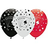 "Davies RB211 Creative Party 12"" Round Card Night Latex Balloons 6ct"