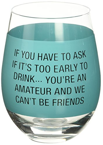 About Face Designs About 187452 Youre an Amateur Wine Glass Sassy Sayings, Clear