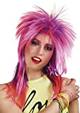 80s Punk Pink and Purple Rock Diva Wig