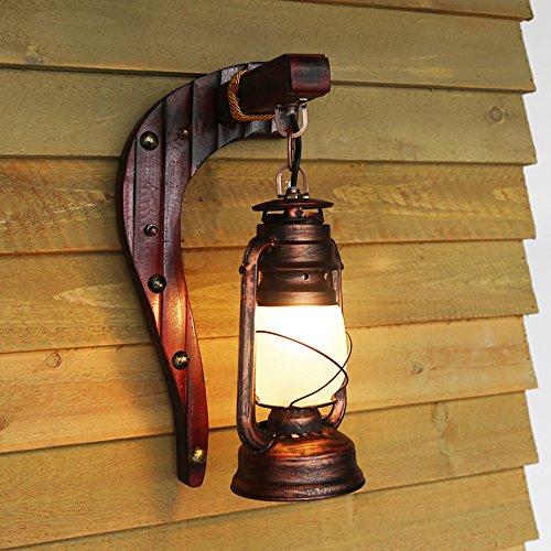Alte Antike Schlafzimmer Balkon Wand Retro Bambus Lampe Petroleum