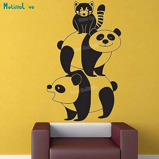 zhuziji Dos Tipos de Animales Tatuajes de Pared Panda Stack ...