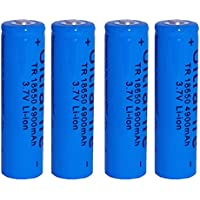 Skytower Set 4 x 18650 4900mah 3.7v for Torch Flashlight Lithium Rechargeable Battery