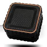 TANK BASS Outdoor Waterproof Bluetooth Portable Speaker USP-600 / Stereo PC Tablet Super New Laptop Boombox Handsfree Wireless (Orange)
