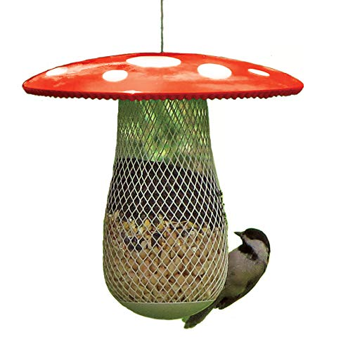 CHILIPET The Best Wild Bird Feeder to Attract More Wild Birds, Fill it with Sunflower Black Oil Seeds, Peanuts and Suet Pellets Easy to Install, Clean & Fill, Great Gift for Friends and Family! (Red)