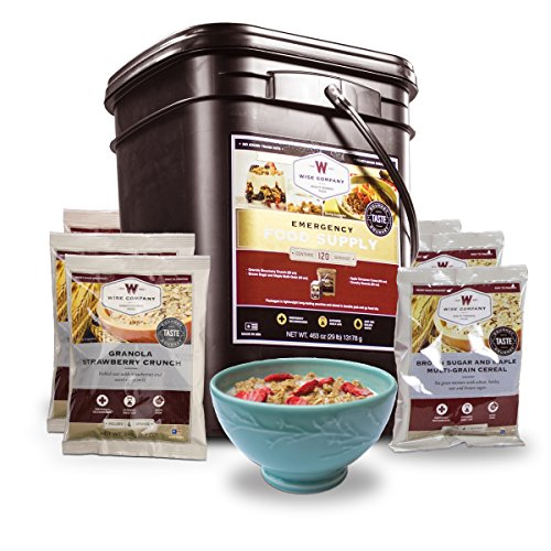 Wise Company, Emergency Food Supply, Freeze-Dried Breakfast Variety, 120 Servings ()