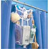 CasaVia Quick-Dry Hanging Shower Caddy with Dispenser Pockets