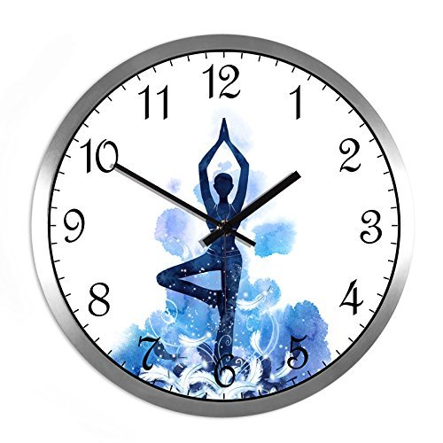 HOMEE Clock-the gym dance studio art deco quartz clock mute creative wall clocks,C,14 Inches