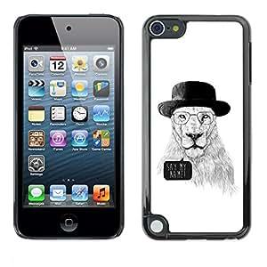 Be Good Phone Accessory // Dura Cáscara cubierta Protectora Caso Carcasa Funda de Protección para Apple iPod Touch 5 // Funny Meth Cook Lion