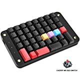 Koolertron Single-Handed Programmable Mechanical Keyboard with Cherry MX Red Switch,All 44 Programmable Keys Tools Keypad,8 Macro Keys,PBT Keycaps.[SMKD72-C]