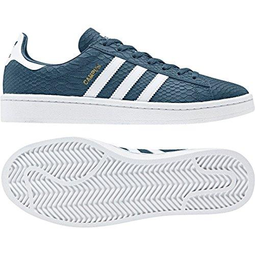 Adidas Campus W, Zapatillas de Deporte para Mujer, Azul (Petnoc/Ftwbla / Dormet 000), 44 EU